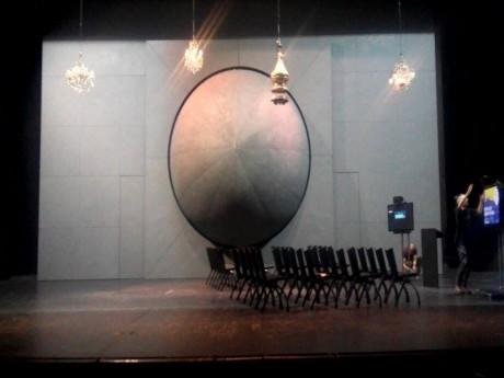 Un aperçu du décor de la scène, à l'Opéra de Lyon - LyonMag