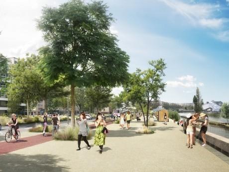 Le futur boulevard urbain, au niveau de la Mulatière - DR
