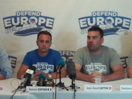 Capture d'écran Youtube de la diffusion de la conférence de presse