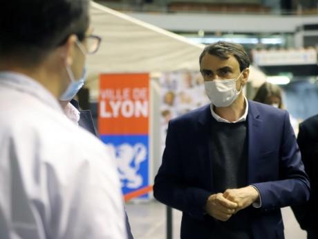 Grégory Doucet ce mercredi midi au Palais des Sports de Gerland - LyonMag