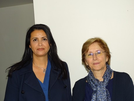 Fouziha Bouzerda aux côtés d'Annie Guillemot - LyonMag.com