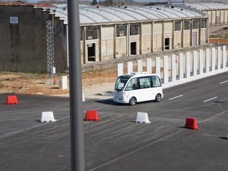 La navette autonome en exercice à Transpolis - LyonMag