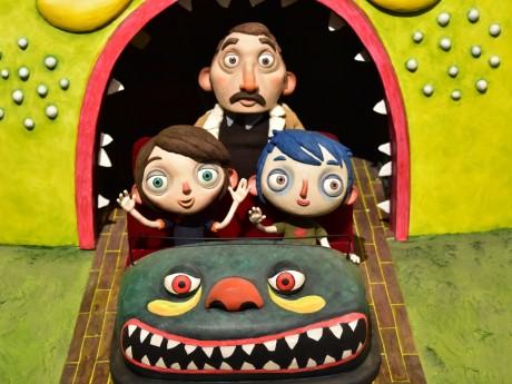 Courgette (à droite) dans le train fantôme - LyonMag
