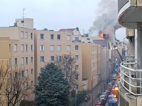 Photo de l'incendie rue Louis-Braille - DR ©@B4pt1st