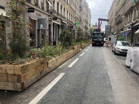 Les travaux continuent sur la rue du Président Edouard Herriot - LyonMag