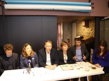 Les représentants EELV après l'audience du tribunal - LyonMag