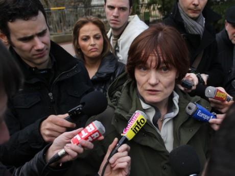 Florence Ollivet-Courtois, vétérinaire du cirque Pinder, s'exprime devant la presse - photo Lyonmag.com
