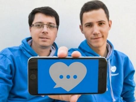 Les deux créateurs d'Elly, Laurent Chenay et Vincent Larroque (de gauche à droite) - LyonMag