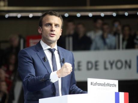 Le candidat d'En Marche !, Emmanuel Macron - LyonMag