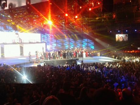 La scène du bal des Enfoirés - Photo LyonMag.com