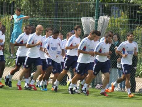 Le groupe lyonnais à l'entrainement - Photo LyonMag