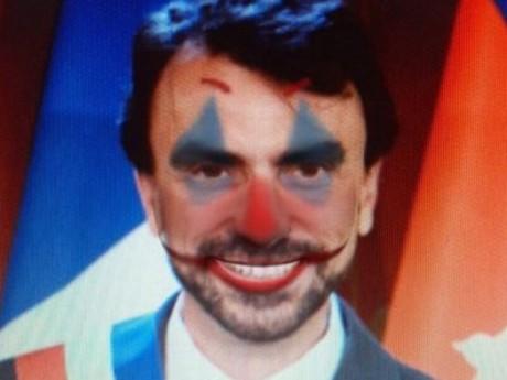 Grégory Doucet grimé en clown - DR