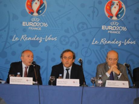 Gérard Collomb, Michel Platini et Alain Juppé - Photo LyonMag.com