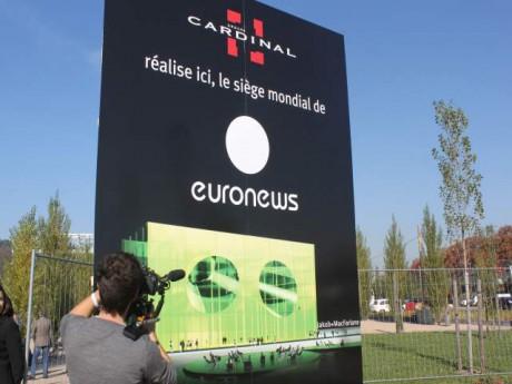 Le futur siège d'Euronews à la Confluence - Photo Lyonmag.com