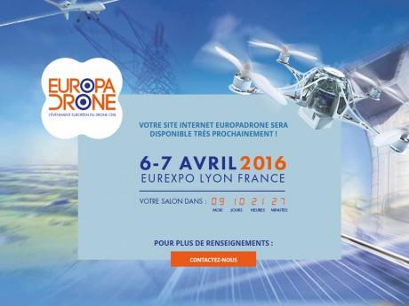 Capture d'écran du site d'Europadrone - DR