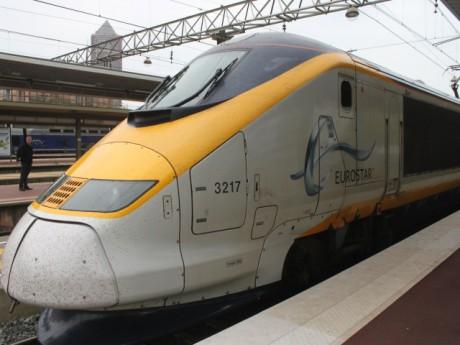 L'Eurostar sur le quai de la gare de Lyon Part-Dieu - LyonMag.com