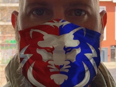 Les masques aux couleurs de Lyon - DR