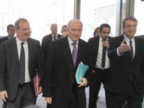 Laurent Fabius, Jean-Jack Queyranne et Jean-François Carenco mardi à Lyon - LyonMag.com