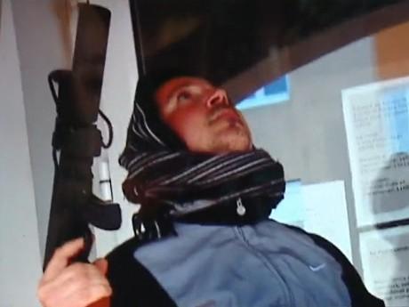 Capture d'écran de la vidéo réalisée par les faux terroristes - DR