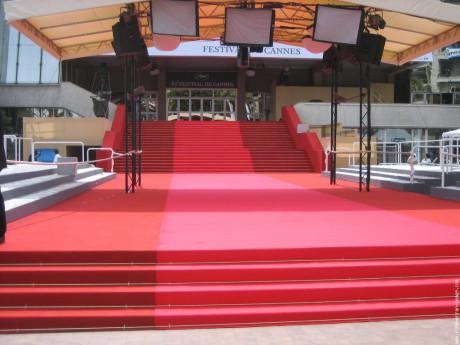 Les célèbres marches du Festival de Cannes - DR