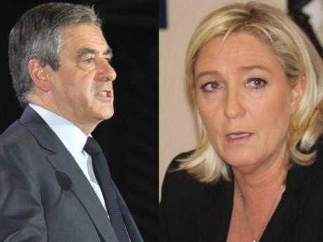 François Fillon et Marine Le Pen - LyonMag