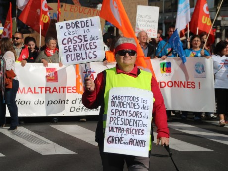 Une précédente manifestation de la fonction publique - LyonMag
