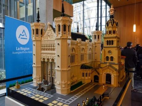 La basilique de Fourvière en Lego - DR Michel Pérès