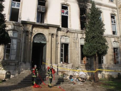 Le foyer après l'incendie lundi matin - LyonMag
