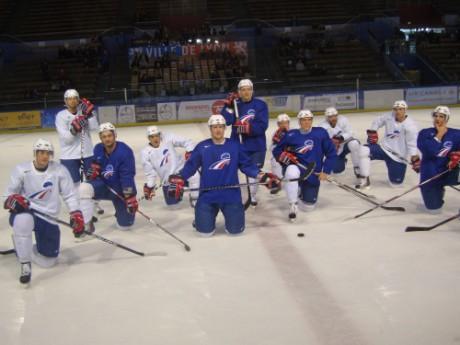 L'équipe de France lors de son dernier passage à la patinoire Charlemagne en mai dernier - LyonMag