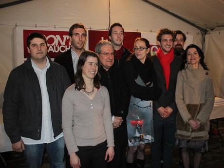 Les neuf têtes de liste de la liste Lyon Citoyenne & Solidaire - LyonMag