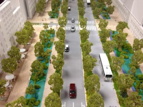La maquette de la future Rue Garibaldi, sans les trémies - Photo Lyonmag.com