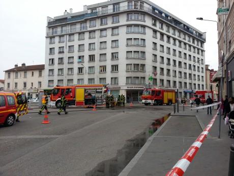 Le périmètre de sécurité à Cusset Villeurbanne - LyonMag