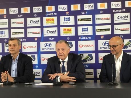 Bruno Génésio, Jean-Michel Aulas et Antonio Pintus - Lyonmag.com
