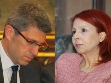 Christophe Geourjon et Djida Tazdaït - Montage LyonMag