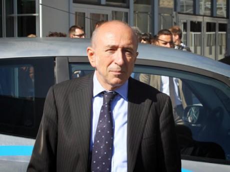 Gérard Collomb, ce lundi à la présentation de Bluely - LyonMag