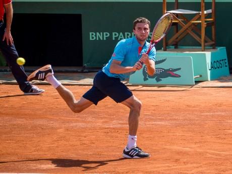 Gilles Simon à Roland-Garros - DR