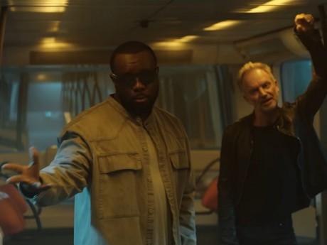 Gims et Sting dans le métro lyonnais - DR