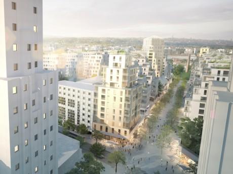 Visuel du futur Quartier des Gratte-Ciel à Villeurbanne - DR