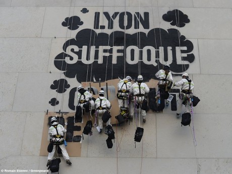 Photo du Graff - DR ©@greenpeacelyon
