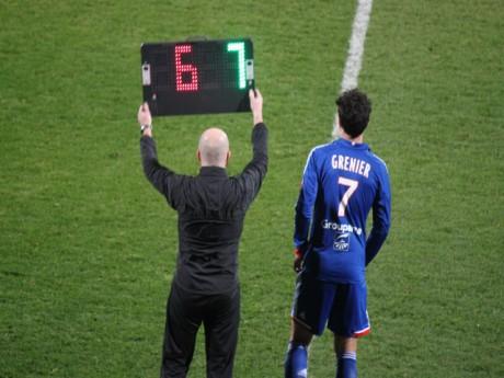 Clément Greneir faisant son entrée en jeu avec l'OL - LyonMag.com