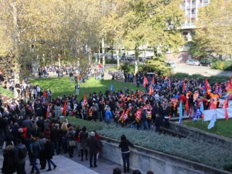 Les agents du Grand Lyon, lors d'une précédente manifestation - LyonMag