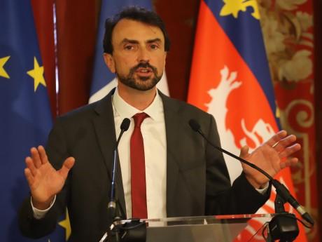 Grégory Doucet lors de son investiture - LyonMag