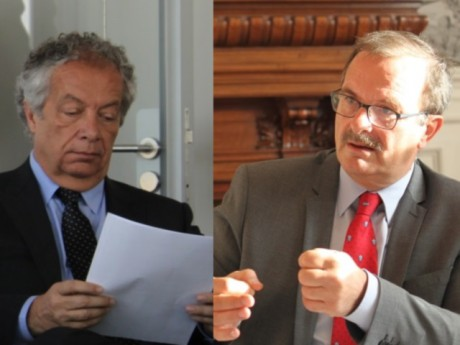 Philippe Grillot et Jean-François Carenco - Montage LyonMag