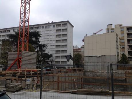 Le chantier où le corps de l'étudiant a été retrouvé vendredi - LyonMag