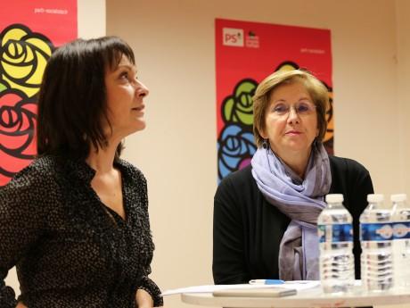 Sylvie Guillaume et Annie Guillemot ce lundi, Gilbert-Luc Devinaz était excusé - LyonMag