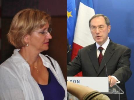 Annie Guillemot, la maire de Bron, et Claude Guéant, le ministre de l'Intérieur - Photo DR et Lyonmag.com
