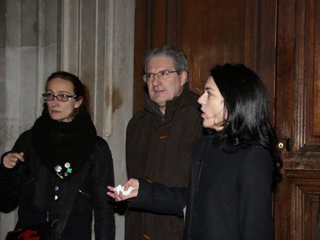 NPG (à droite), avec Aline Guitard et Armand Creus - LyonMag