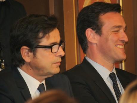Michel Havard (à droite), aux côtés d'Emmanuel Hamelin - LyonMag