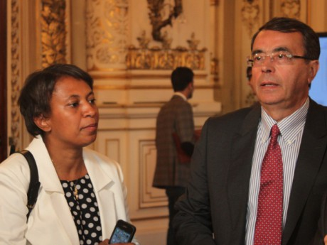 Jean-Jack Queyranne avec Hélène Geoffroy. Photo LyonMag.com