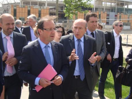 François Hollande et Gérard Collomb à Lyon. Photo LyonMag.com
